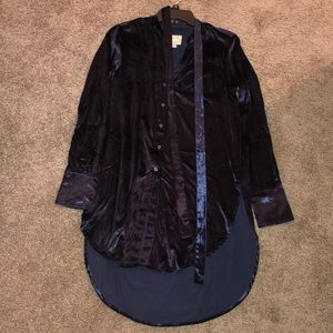 Velvet shirt dress from Anthropologie. NEVER WORN